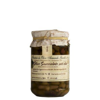 Immagine di Olive Snocciolate Taggiasche in Olio Extra Vergine di Oliva